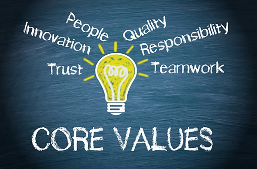 Core Values with Lightbulb