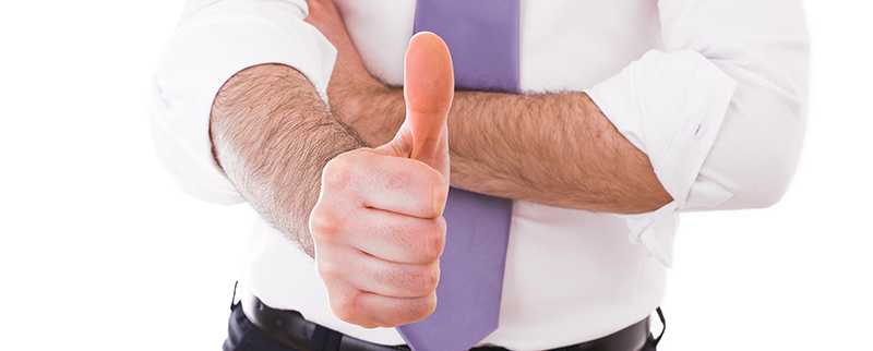 businessman thumbs up appreciation